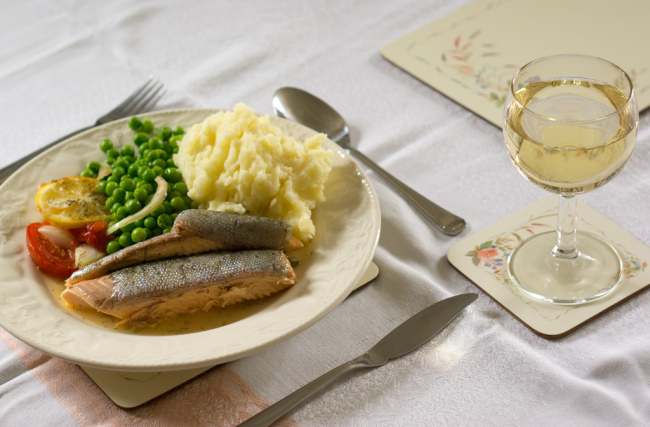 River trout and white wine (Cross Duck/Flickr)