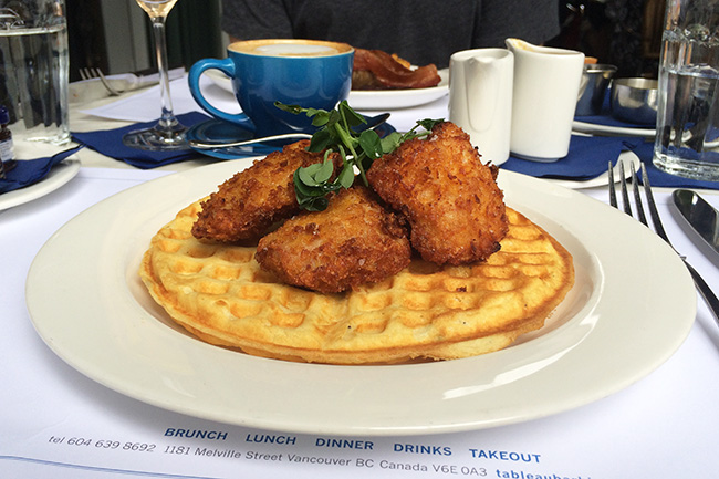 Chicken and Waffles (Jess Fleming / Vancity Buzz)