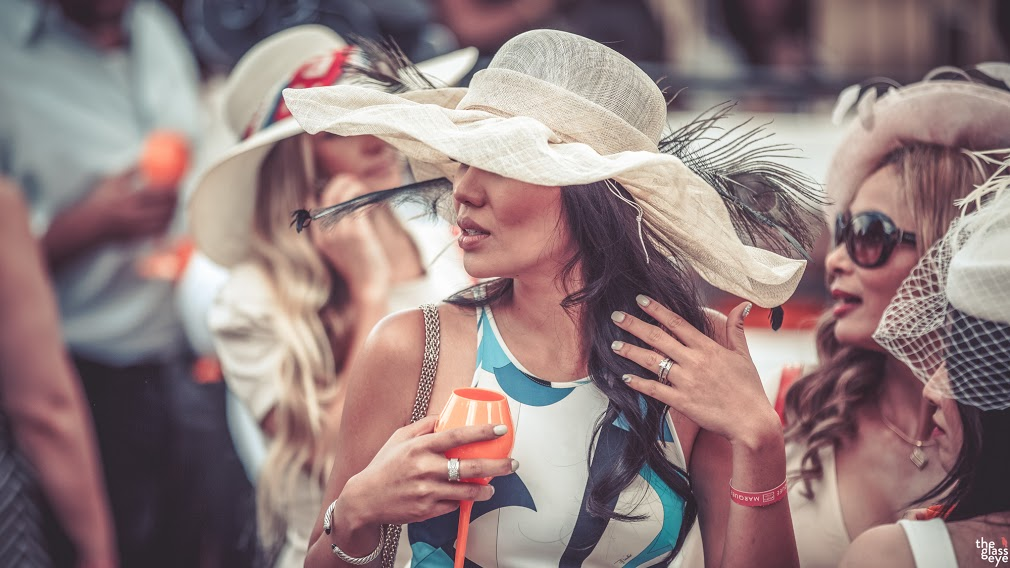 A pretty stylish reveller at the 2015 Deighton Cup (Glass Eye Photography)