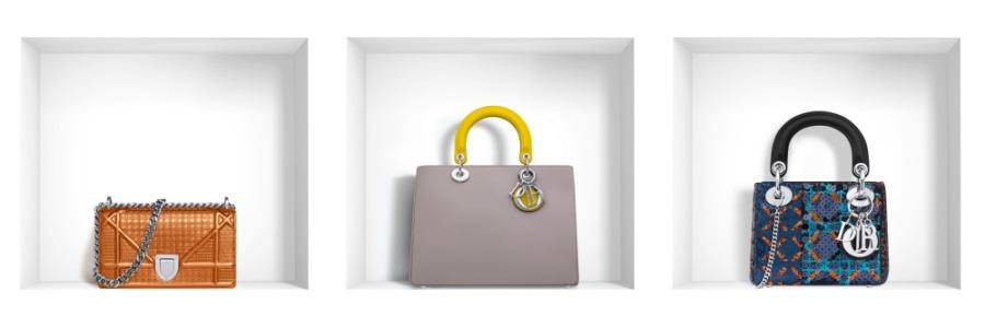 Dior Handbags Collage