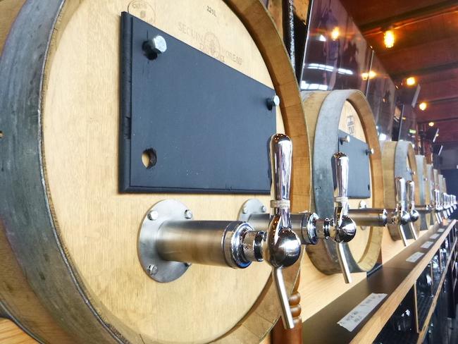 Wine barrels at the bar (Lindsay William-Ross/Vancity Buzz)