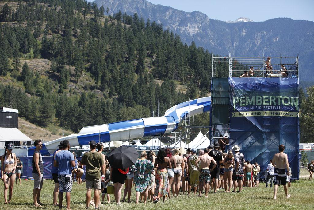Pemberton Music Festival Water Slide