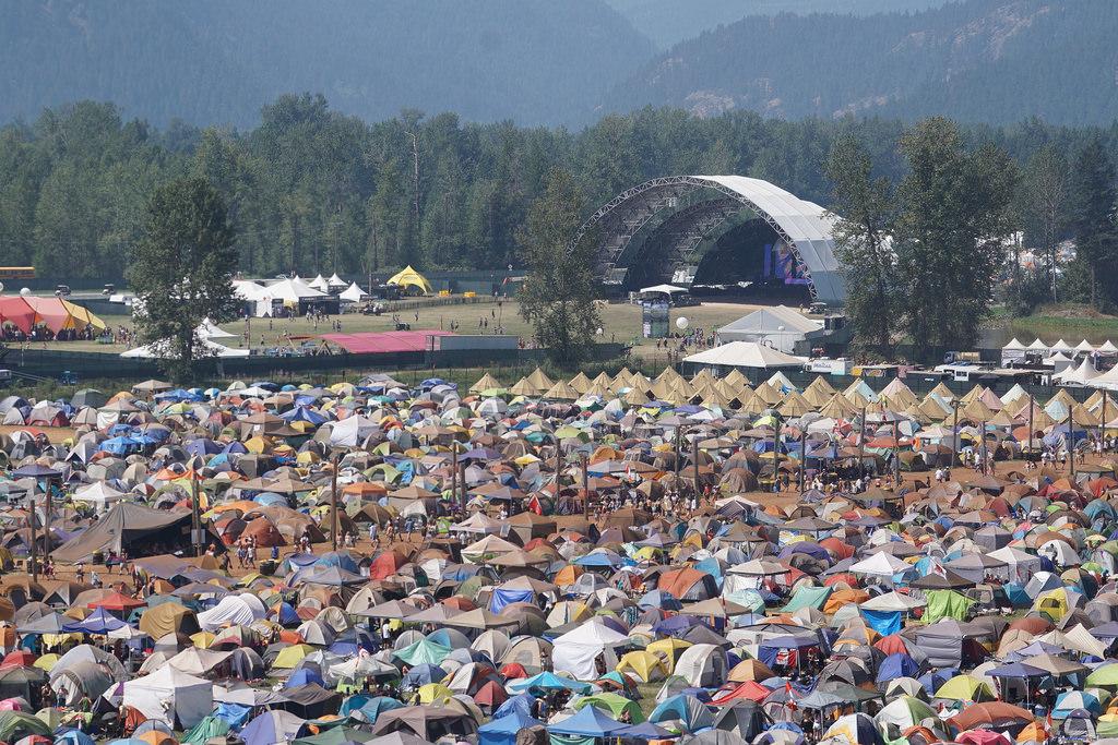Pemberton Music Festival campsite
