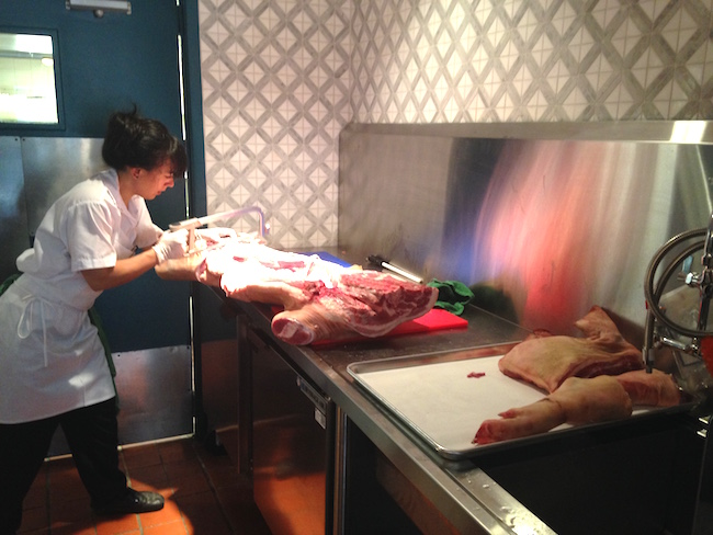 The butchery station (Lindsay William-Ross/Vancity Buzz)