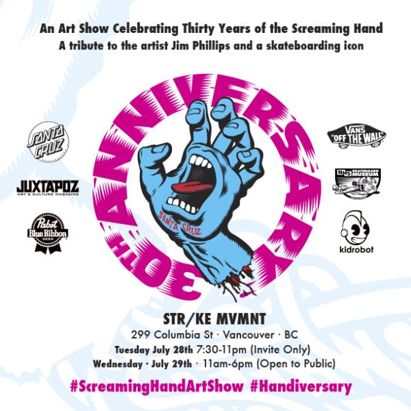 Santa Cruz Screaming Hand Art Show