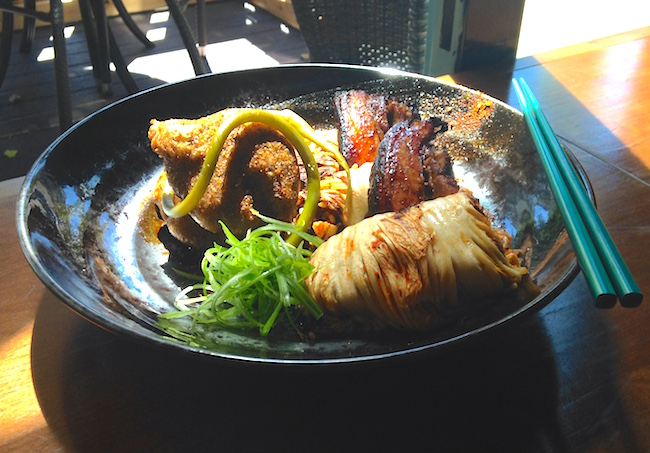 Maple Soy Pork Belly & Kimchi Cabbage Rolls (Lindsay William-Ross/Vancity Buzz)