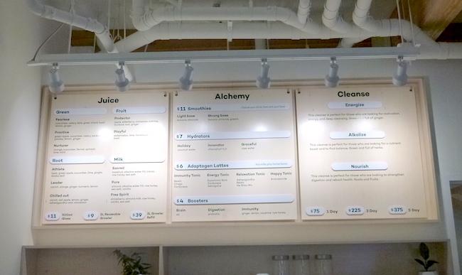 The menu board (Lindsay William-Ross/Vancity Buzz)