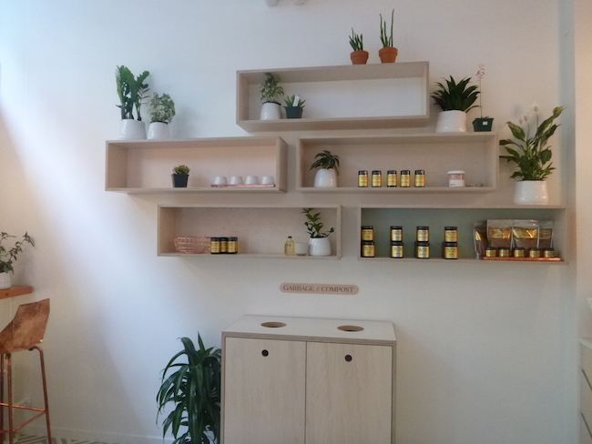 Nectar's nutritional supplement wall (Lindsay William-Ross/Vancity Buzz)