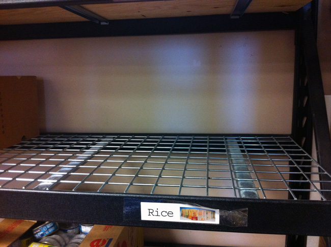 Empty shelves at Abbotsford Food Bank. (Robyn Roste)