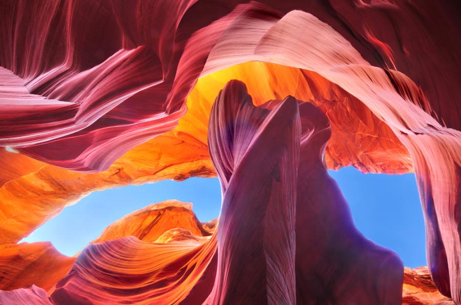 Antelope Canyon, Arizona via shutterstock