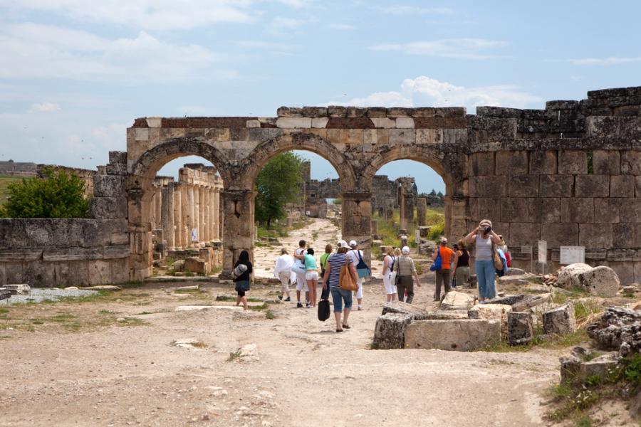 Hierapolis, Turkey via shutterstock
