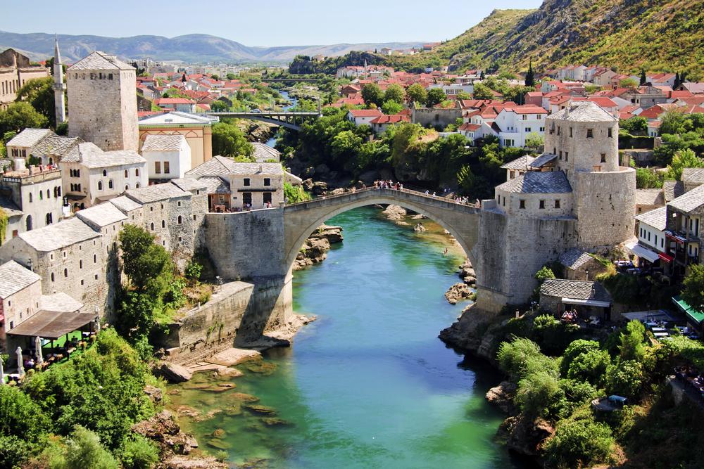Mostar via shutterstock