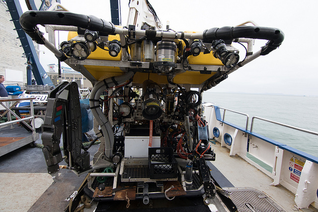 View of the Hercules ROV aboard the E/V Nautilus. Image: Ocean Networks Canada