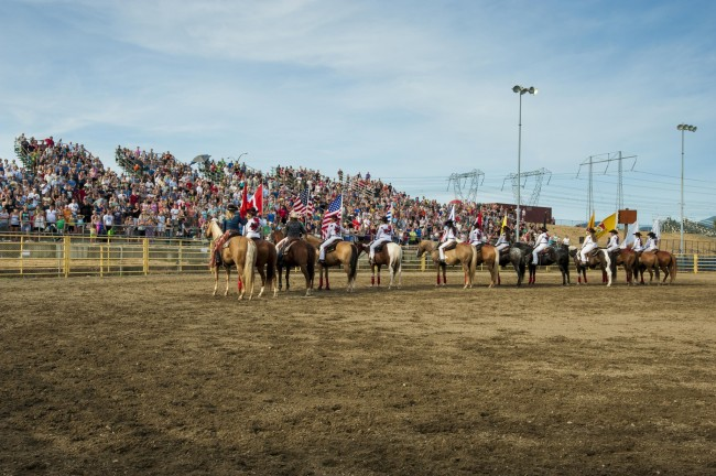 Spectators at recent Mighty Fraser Rodeo in Abbotsford (MFR)