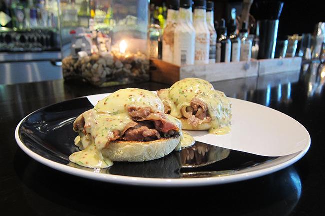 Beef Brisket Eggs Benedict (Jess Fleming / Vancity Buzz)