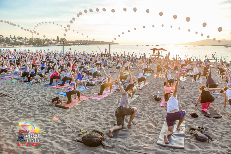 Sunset Beach Yoga - Photo Credit: Vancouver Sports Photography