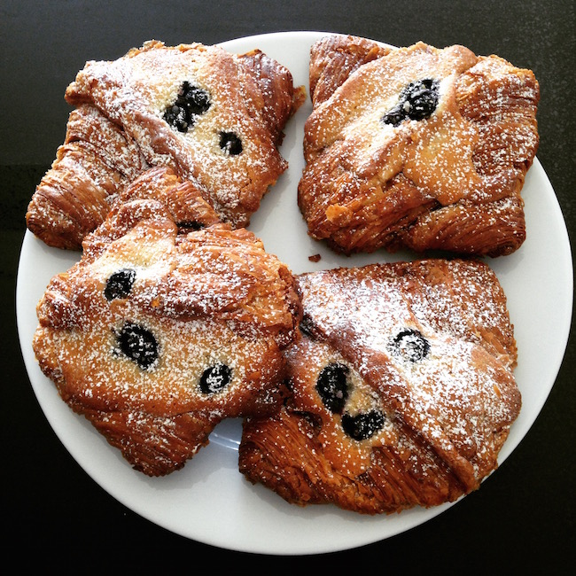 At Beaucoup Bakery, blueberries are showing up in croissants with delicious results (Lindsay William-Ross/Vancity Buzz)