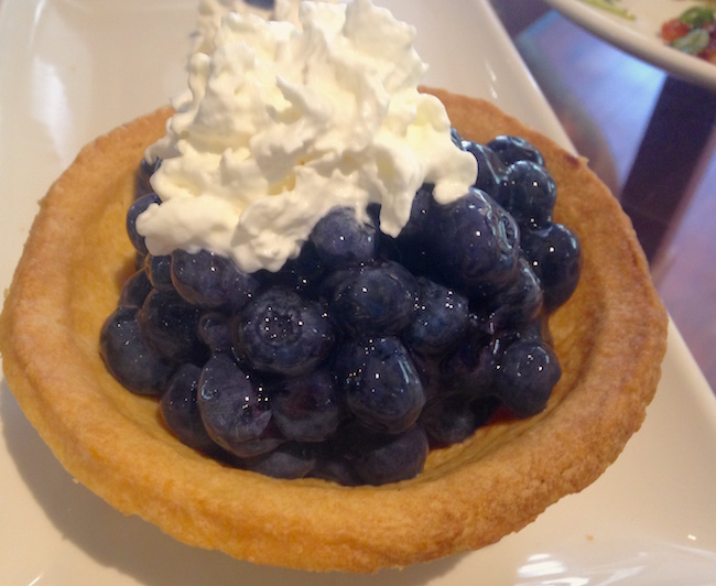 There's always room for pie. The White Spot celebrates blueberries with their summertime special Celebrate BC menu (Lindsay William-Ross/Vancity Buzz)