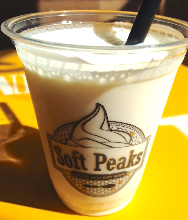 A small sample-sized portion of the new Soft Peaks Original flavour milkshake (Lindsay William-Ross/Vancity Buzz)