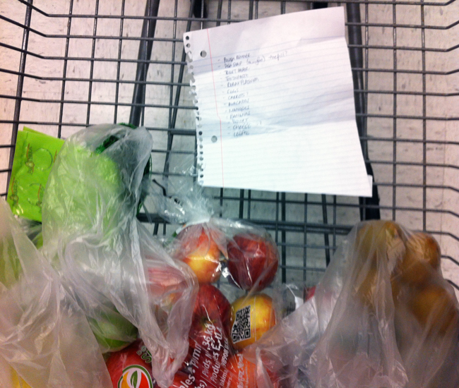 Shopping for food (Robyn Roste)