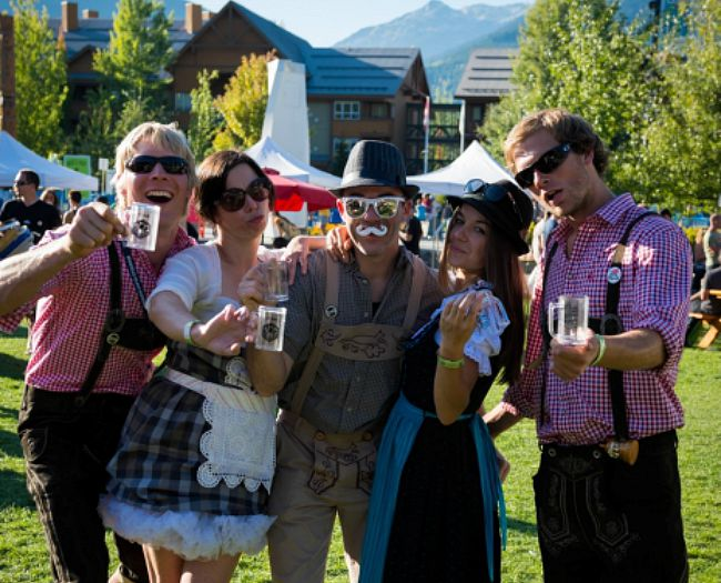 Image: Whistler village Beer Festival at Olympic Plaza