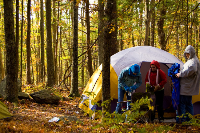 Tenting in fall (Michael Colburn/Flickr)