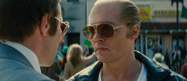 Johnny Depp as Whitey Bulger. Image: Warner Brothers