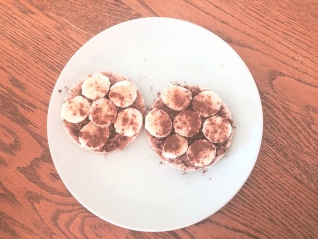 Unsweetened nut butter with banana slices on a whole grain cracker makes for a great snack (Keyrsten McEwan)