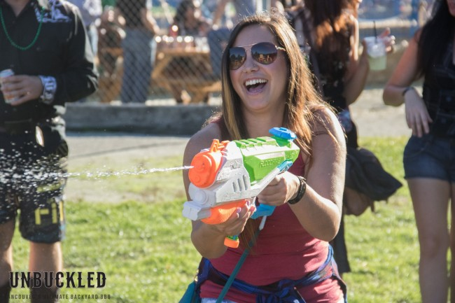 Girl with water gun