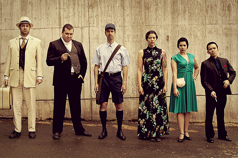 Cast of Who Killed Kraft Bier? Photo by Kendall Walters.