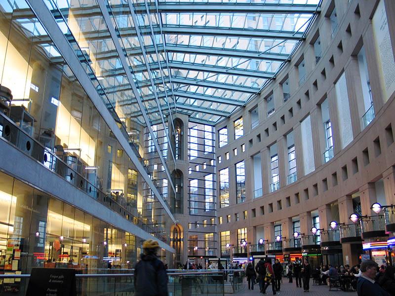 Vancouver Public Library Atrium. Image via Andrew Raun (Flickr).