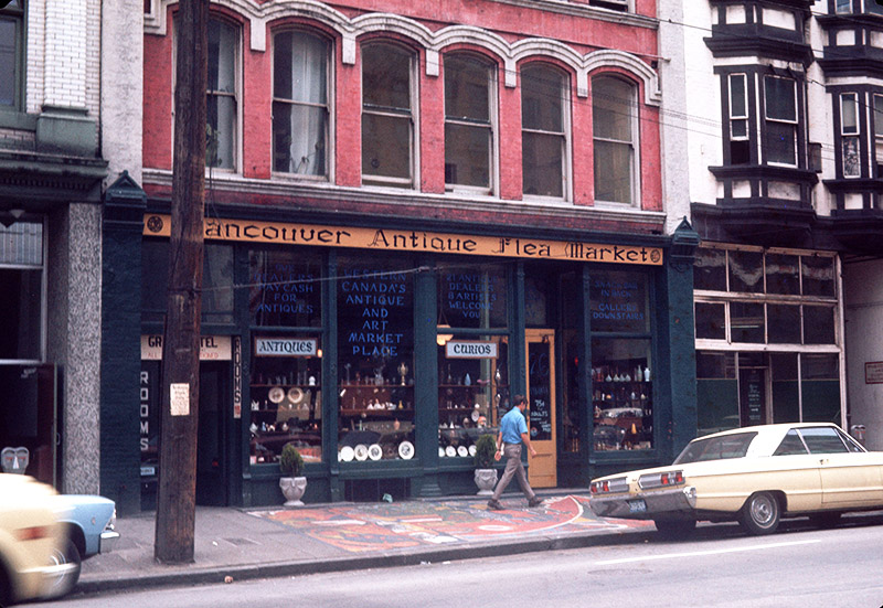 24 Water Street, Gastown, in the 1960s. Image via the City of Vancouver Archives: CVA 780-512.