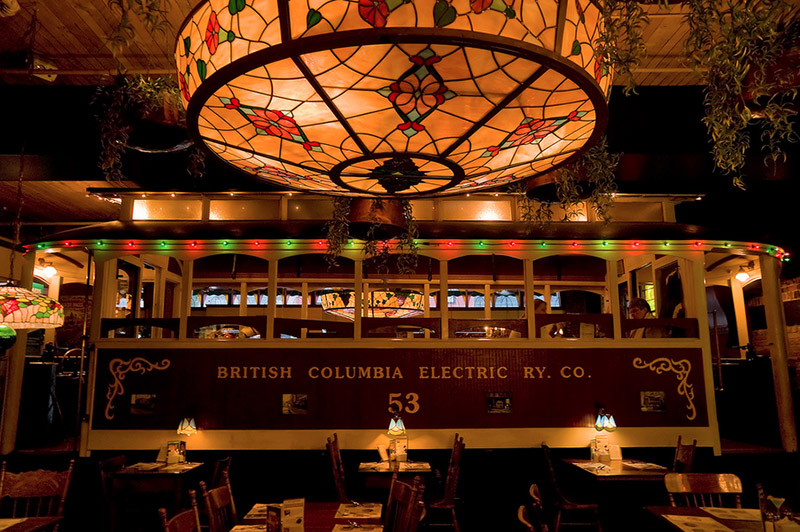 Inside the Old Spaghetti Factory in Gastown. Image via Kris Taeleman.