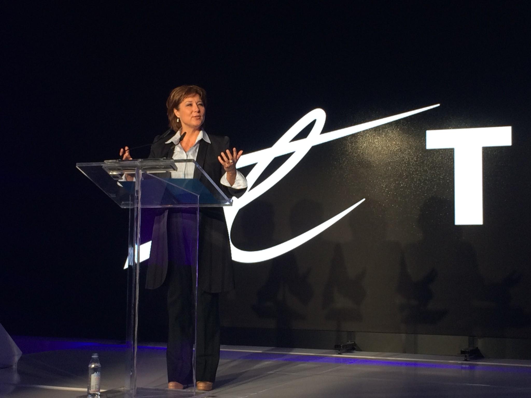 Christy Clark speaks at TELUS' October 2 Fibre Optic announcment; Image: Jill Slattery / Vancity Buzz