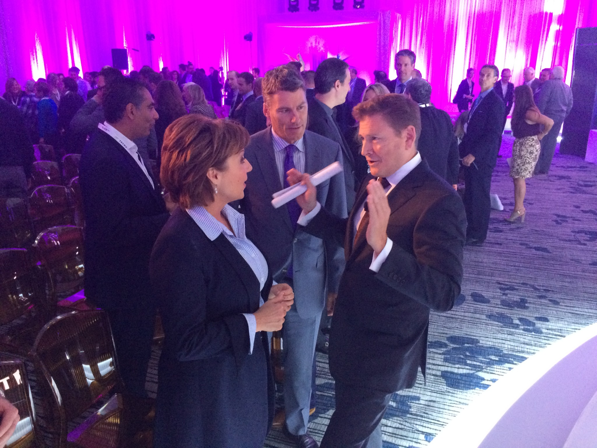 Premier Christy Clark, Mayor Gregor Robertson and TELUS CEO Darren Entwistle discuss the project; Image: Jill Slattery / Vancity Buzz