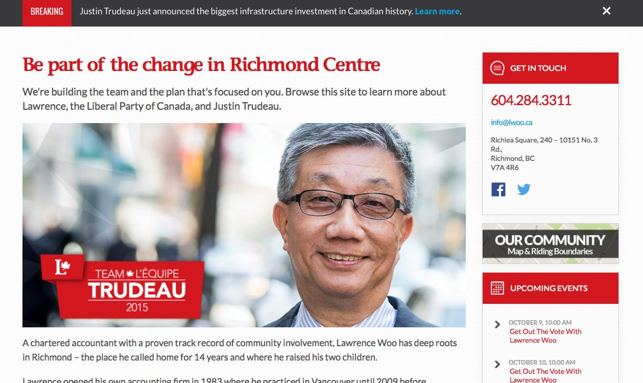 Screenshot/lawrencewoo.liberal.ca