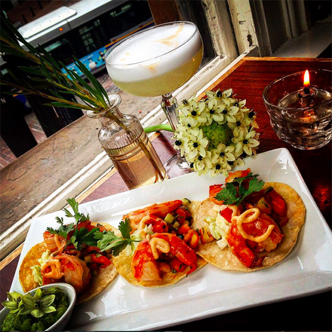 The_Diamond_Vancouver_Bar_food