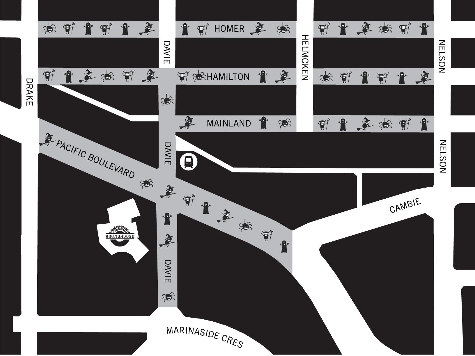 Map via Yaletown Info