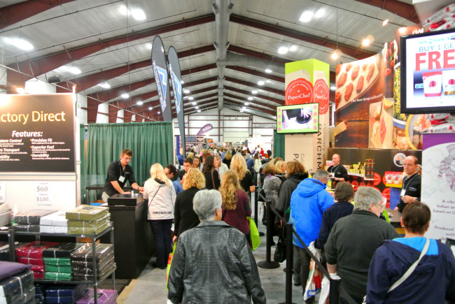 Vendors at TRADEX (Image: West Coast Women's Show)
