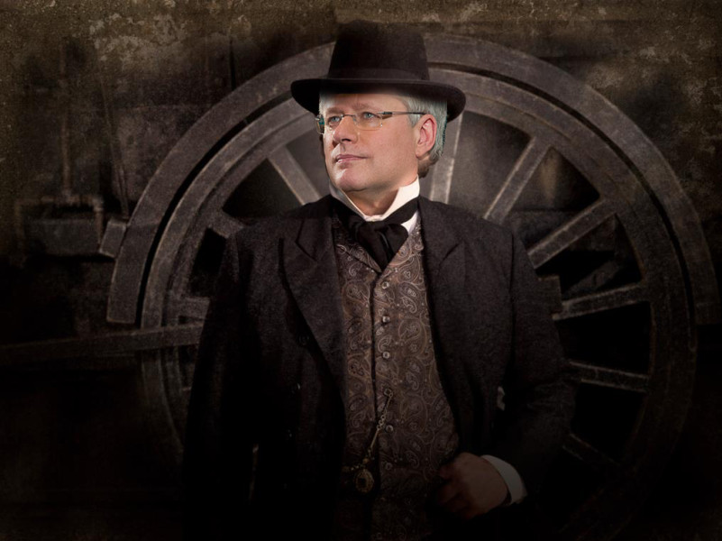 Stephen Harper Flickr / Hell on Wheels Facebook / Vancity Buzz Composition