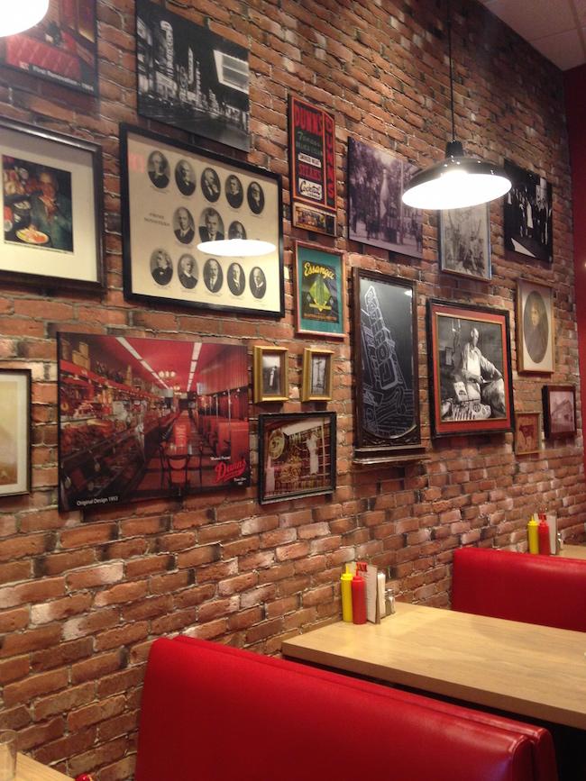 Photos illustrating Dunn's historic roots hang on the restaurant's walls (Lindsay William-Ross/Vancity Buzz)