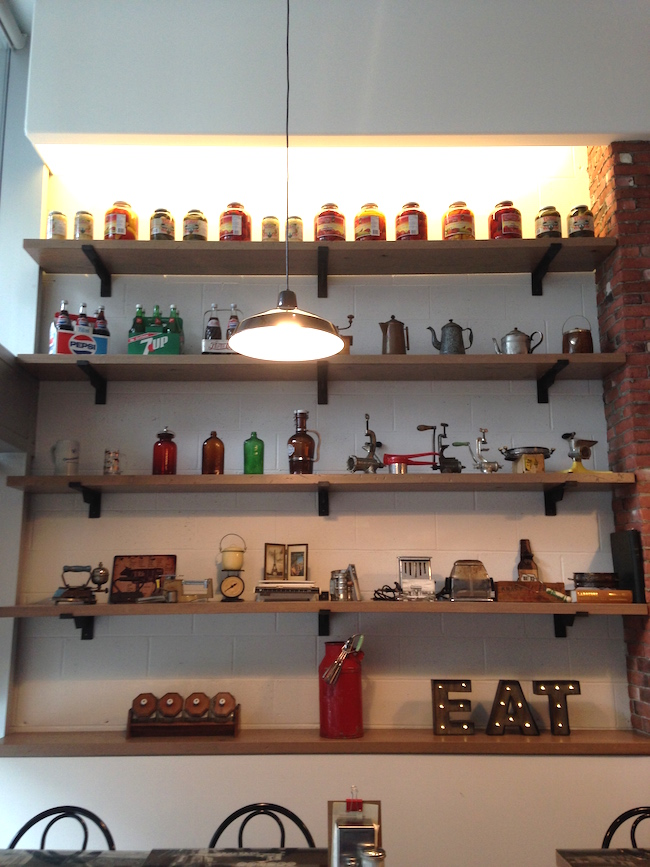 A wall of memorabilia and vintage cooking items (Lindsay William-Ross/Vancity Buzz)