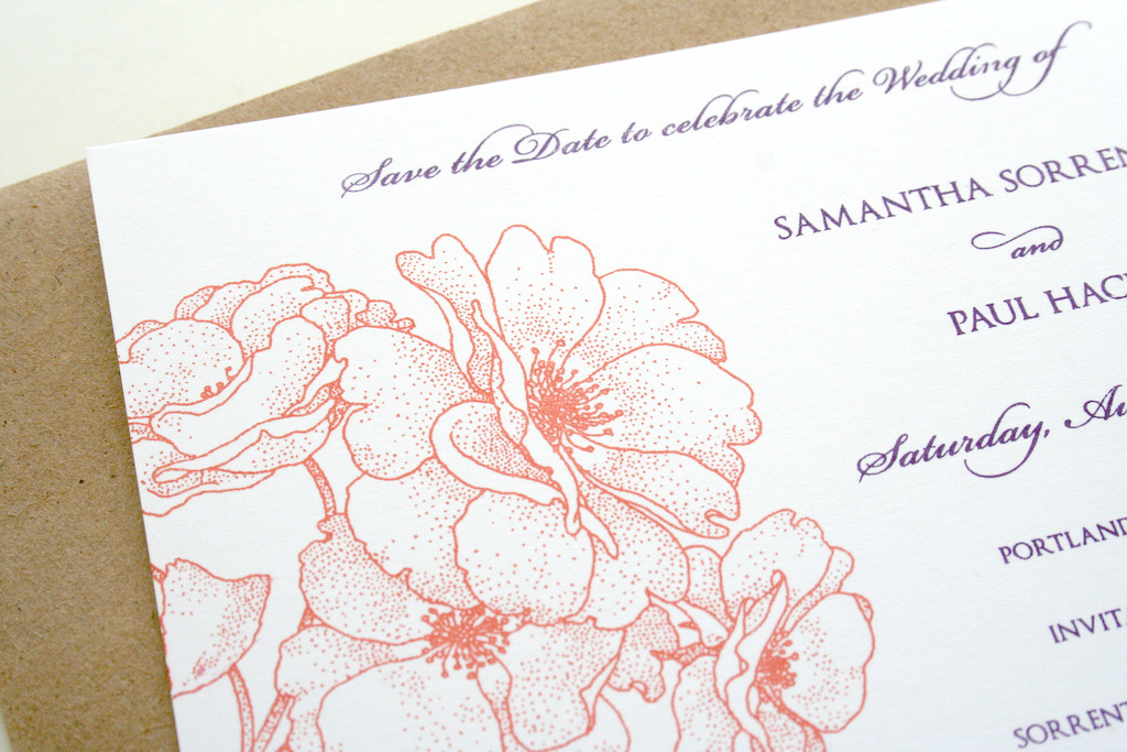 Image: rose save the date / Flickr