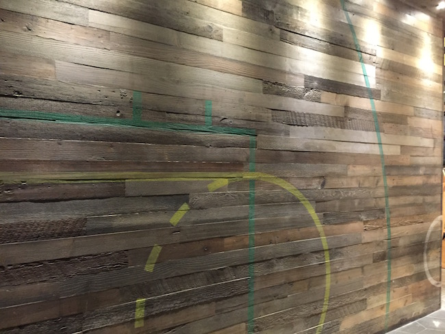 Vintage-inspired basketball themed wall (Photo courtesy Shark Club Vancouver)