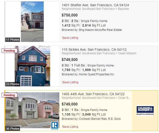 Collection of San Francisco real estate listings / Realtor.com