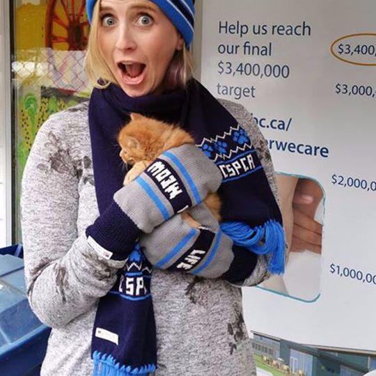 SPCA toque and mittens.