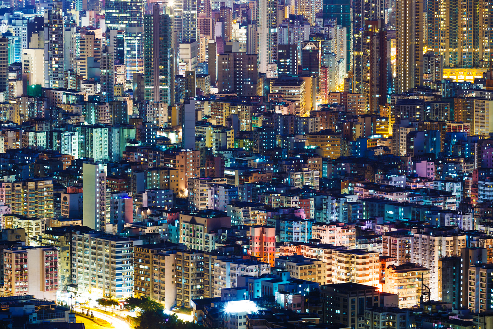 Hong Kong real estate via Shutterstock