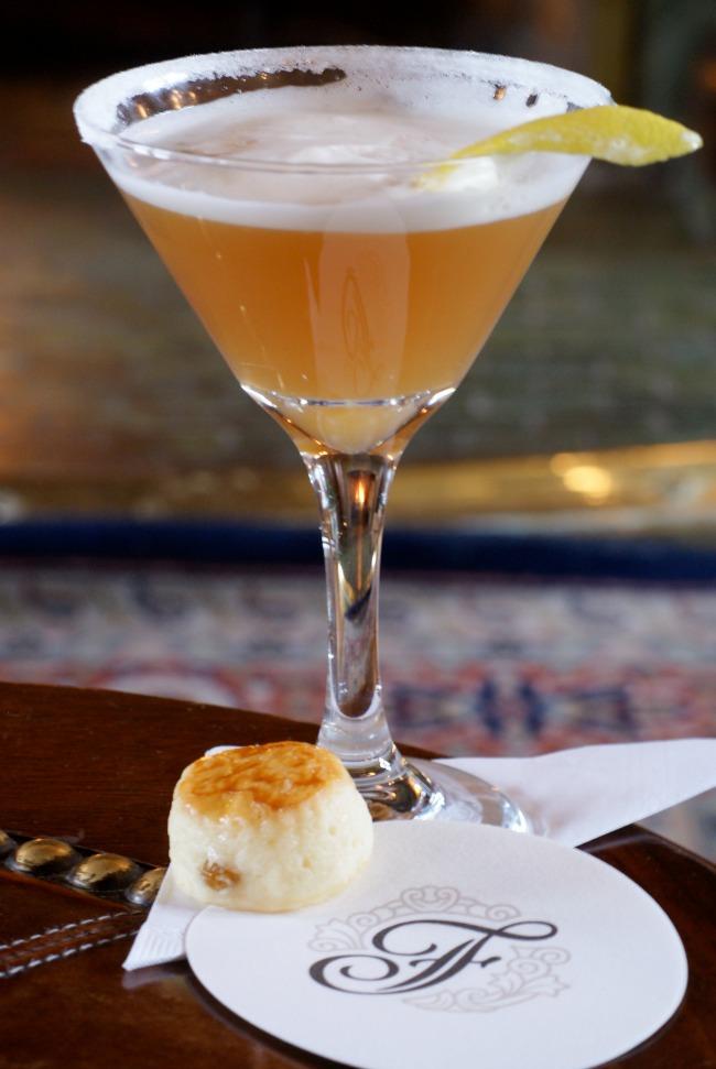 Empress 1908--signature cocktail at the Bengal Lounge. Fairmont Empress photo.