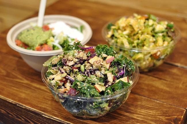 Salads galore at Hungry Guys Kitchen (Jess Fleming / Vancity Buzz)
