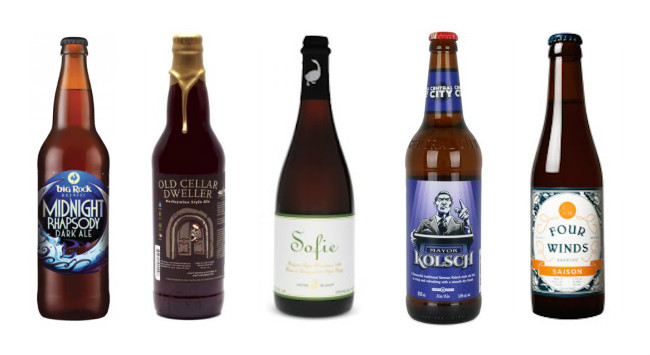 5 of the 7 suggested brews for your holiday meal